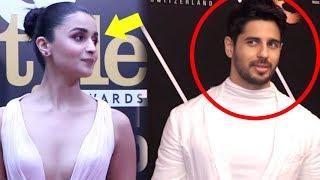 Alia Bhatt IGNORES Ex Boyfriend Sidharth Malhotra- Video  GQ Awards 2018