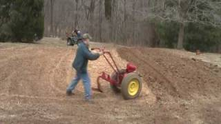Plowing with the David Bradley