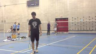 2013 Canadian National College University Badminton Championships  MS QF Lee vs Giuffre