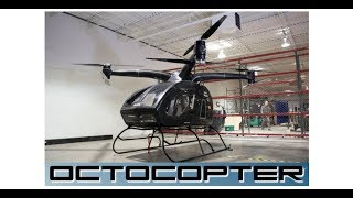 gasoline electric octocopter with ballistic parachute for safety!