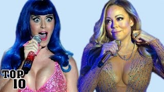 Top 10 Celebrities Caught Lip Syncing