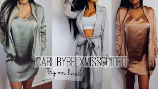 CARLIBYBELxMISSGUIDED Try On Haul!