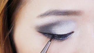 black and white smokey eye shadow /makeup/eyeshadow/eyeline/blrack/howto/sexy/girls/nightout