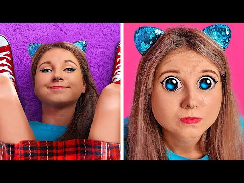I WAS A CAT FOR 24 HOURS CHALLENGE Funny Things Cats do Roommate Pranks by 123 GO Challenge