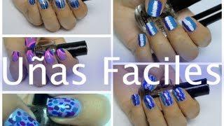 5 Diseños de Uñas Faciles de Hacer Con Colores Azules