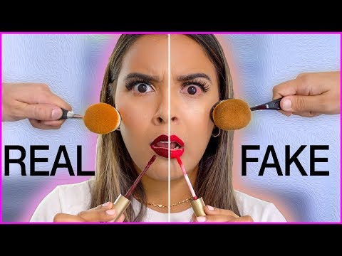Beauty Busters Poop or Woop FULL FACE OF FAKE vs. REAL MAKEUP Natalies Outlet