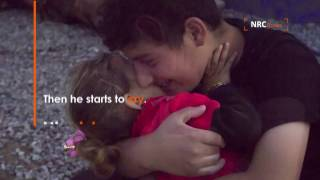 A big brother and a little sister from Mosul