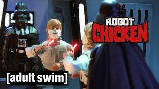 Luke Skywalker versus Darth Vader   Robot Chicken Star Wars   Adult Swim