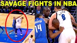 MOST SAVAGE FIGHTS IN NBA, Trash Talk, Hard Foulds | NBA (ANGRY MOMENTS)