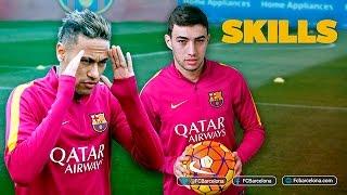 Munir and Neymar Jr shows off skills during training session