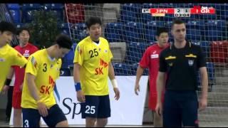 ハンドボール アジア選手権 日本vs韓国 前半