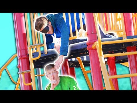 Blind Hide and Seek on a 3 Story Playground