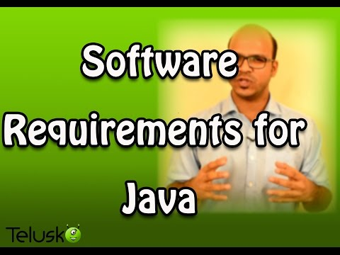 Software Requirements for Java