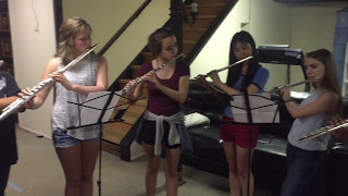 The Youth Performing Arts School Flute Section: Mask Off Challenge