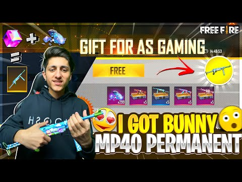 I Got Crazy Bunny🐰 Mp40 Permanent In One Spin😍 Garena Free Fire