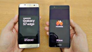Huawei P9 vs Samsung Galaxy S7 Edge - Speed Test! (4K)