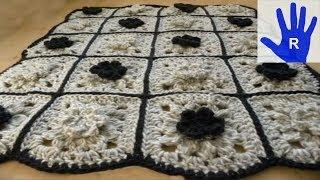 Häkeln - Decke aus Grannys - Zusammenhäkeln - Veronika Hug
