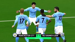 Manchester City vs West Brom 6-0 | 31 January 2018 Gameplay