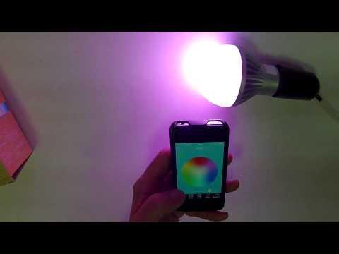 Bec inteligent LED RGB PNI SH01 controlat prin Bluetooth