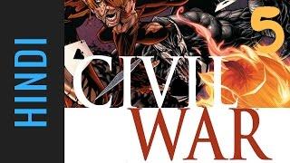 Marvel CIVIL WAR   Episode 05   Marvel Comics in Hindi