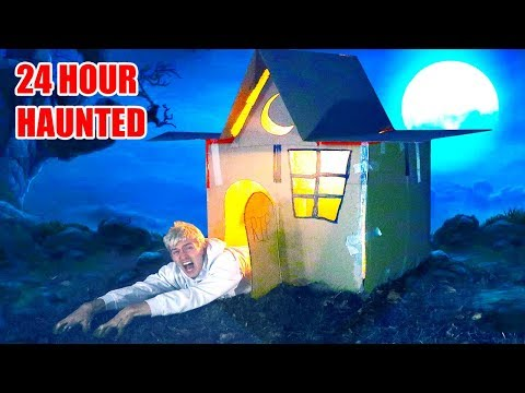 24 HOUR HAUNTED BOX FORT 👻 📦