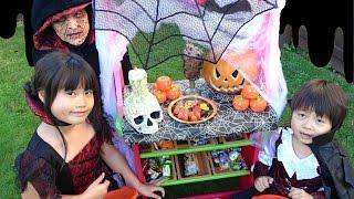 魔女のお菓子屋さん ハロウィン お買い物ごっこ こうくんねみちゃん Halloween  Candy shop of the witch
