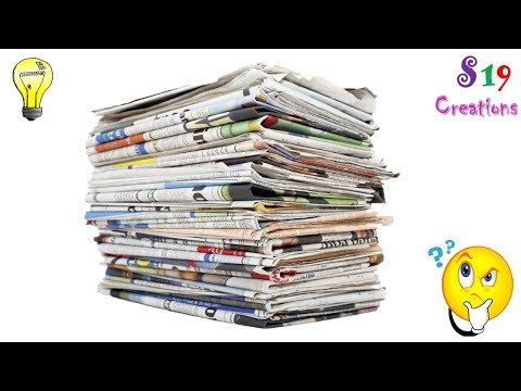 Xxx Mp4 Newspaper Craft Ideas Best Out Of Waste Ideas Amazing Diy Craft Idea Reuse Of Old Newspapers 3gp Sex
