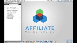 Affiliate Via Authority Niche Blogging - 01. Overview