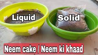 Benefits of using Neem cake / Neem ki khaad, neemkhali for plants