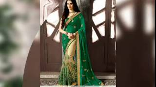 Latest Green Saree Design 2017