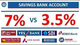 7% VS 3.5% Savings Bank Account Interest Rates