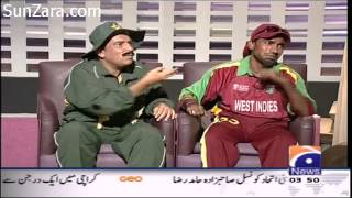 Chris Gayle vs Javed Miandad - FULL HD 1080p (Khabarnaak funny segment) 01-06-2013
