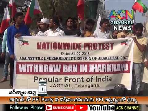 Xxx Mp4 PFI Holds A Protest In Telangana By Protesting The Decision Of Jharkand Govt 3gp Sex
