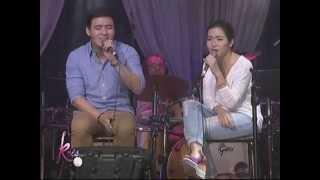 Angeline & Erik 'The Closer I Get To You' duet on KrisTV