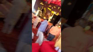 Pujya Gurudev Param Shradhey Acharya Sri Gaurav Krishna Goswami ji entering in katha pandal at pali