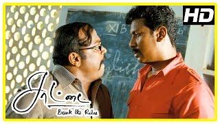 Saattai Tamil movie scenes | Samuthirakani challenges the teachers | Thambi Ramaiah | Yuvan