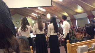 Girls singing in Cali
