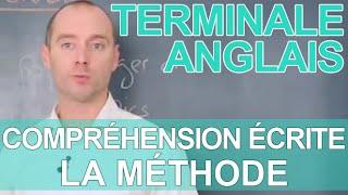 Compréhension écrite - La méthode - ANGLAIS - Terminale - Les Bons Profs