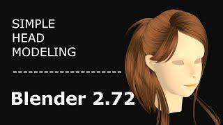 Timelapse - Blender 2.72: Face Girl Modeling
