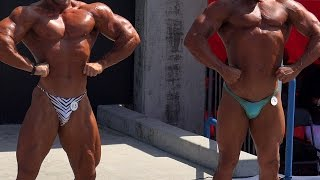 Mr. Universe vs. Rookie at a Bodybuilding Contest