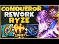 Download Video Download NEW CONQUEROR IS INSANE ON RYZE NOW! HUGE BONUS DMG + FAST STACKING! - League of Legends 3GP MP4 FLV