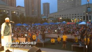 Junaid Jamshed calling Adhan from Celebration Square in Mississauga | MuslimFest 2014