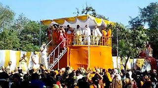 #Janma Abhishek of Aadinath Bhagwan on Panduk Shila #Pushp Varsha by Helicopter, Bahubali Enclave