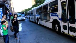 MaBSTOA Bus Action at 125th Street / Amsterdam Avenue
