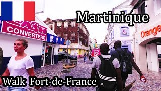 Martinique Island - Walking in Fort-de-France the Capital 2017 4K (1/2)