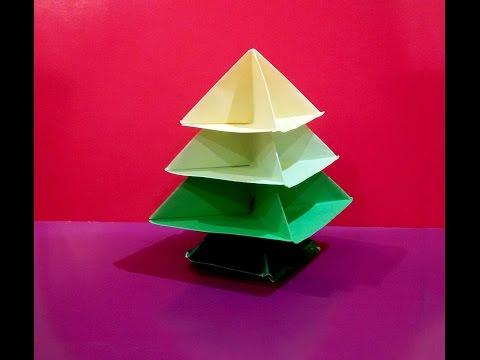 Origami Christmas tree. Easy! Paper Christmas tree.  Arbolito de NAVIDAD. Новогодняя елка оригами