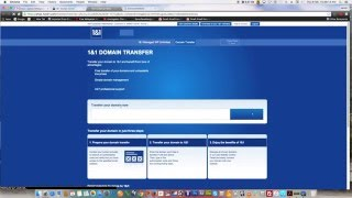 how to do pointing on domain in another provider to 1&1 hosting account