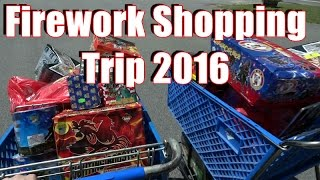 Firework Shopping Trip & Stash 2016