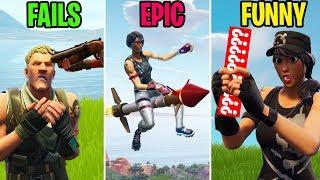 BEST Rocket Ride EVER! FAILS vs EPIC vs FUNNY - Fortnite Funny Moments (Battle Royale)