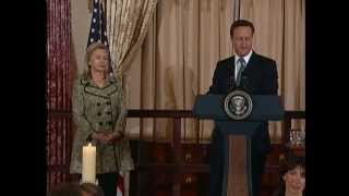 Secretary Clinton and Vice President Biden Deliver Remarks With U.K. Prime Minister Cameron